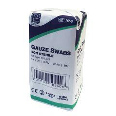 Premier 8ply Non Sterile Gauze Swabs ‑ 5cm x 5cm