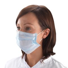 Type IIR Blue Face Masks with Loops