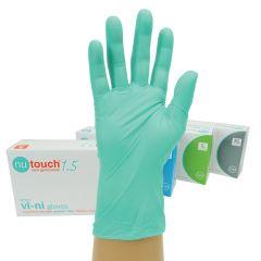 Nutouch Powder Free Green Vi‑ni Gloves