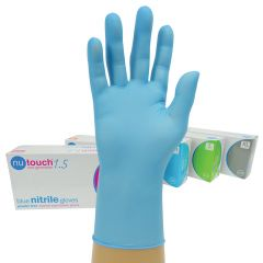 Nutouch Powder Free Blue Nitrile Gloves