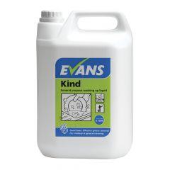 Evans Kind Washing Up Liquid and General Purpose Detergent ‑ 5 Litre