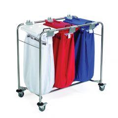 Medi Cart Laundry Trolley Three Bag