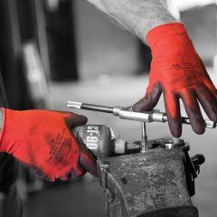 Matrix Red PU Gloves