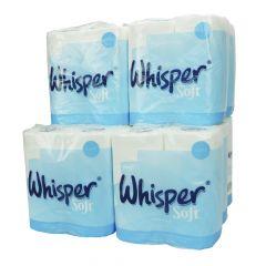 Whisper Soft 2ply Toilet Rolls ‑ Case of 40