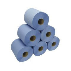 Blue 2ply Centrefeed Rolls 150m