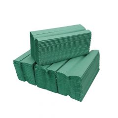 1 ply Green C Fold Hand Towels ‑ Case of 2640