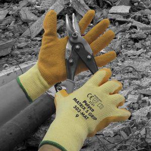 Matrix S Grip Crinkle Latex Palm Coated Glove