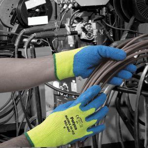 Matrix Hi‑Vis Thermal Crinkle Latex Glove