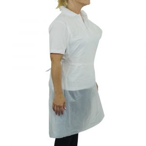 Premium Polythene Aprons in a Dispenser Pack ‑ White