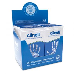 Clinell Antimicrobial Hand Wipes ‑ 100 Wipes