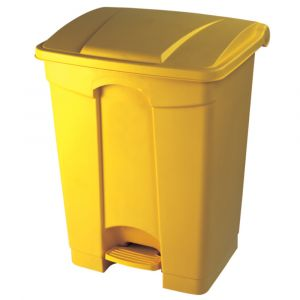 Yellow Clinical Waste Pedal Bin