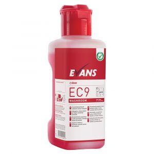 Evans e:dose EC9 Washroom Cleaner Disinfectant Super Concentrate 1 Litre