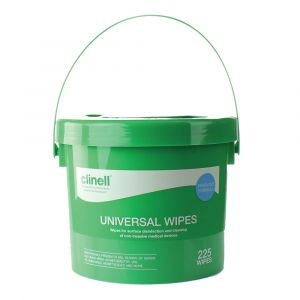 Clinell Universal Sanitising Wipes Bucket 225 Wipes