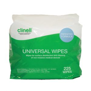 Clinell Universal Sanitising Wipes Bucket Refill 225 Wipes