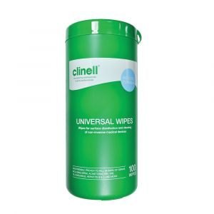 Clinell Universal Sanitising Wipes Canister 100 Wipes
