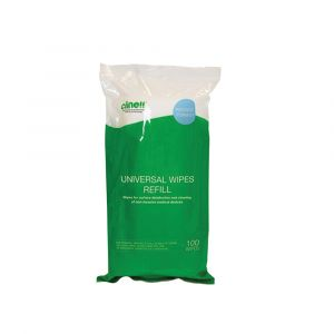 Clinell Universal Sanitising Wipes Canister Refill 100 Wipes