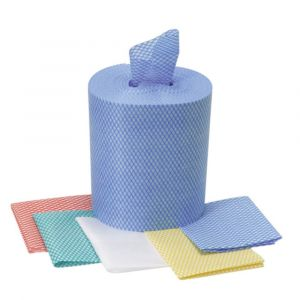 Coloured Code Cleaning Cloths on a Roll
