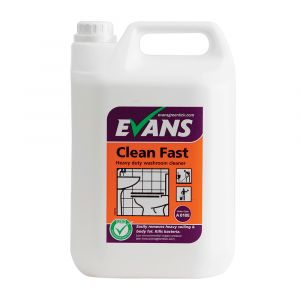 Evans Clean Fast Heavy Duty Washroom Cleaner Concentrate ‑ 5 Litre