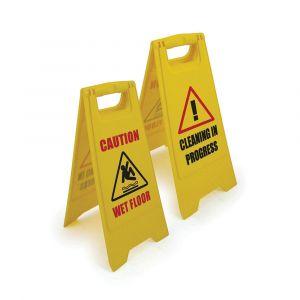 Wet Floor/Cleaning in Progress Sign