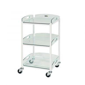 Dressing Trolley DT4 3 Glass Trays