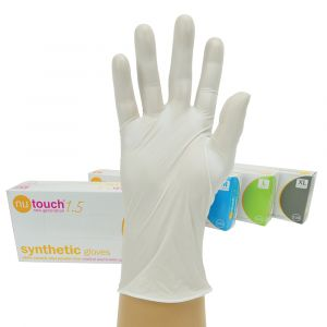 Nutouch Powder Free Synthetic Stretch White Vinyl Gloves