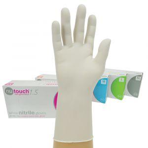Nutouch Powder Free White Nitrile Gloves