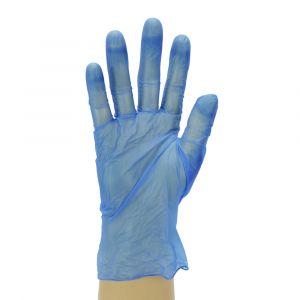 Lightly Powdered Blue Vinyl Gloves