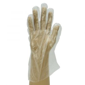 Clear Smooth Polythene Gloves