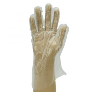 Clear Embossed Polythene Gloves