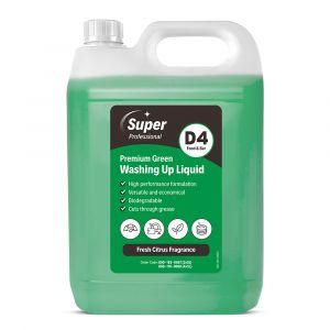 Super Premium Green Washing Up Liquid 5 Litre