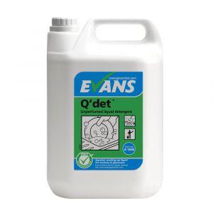 Evans Q'Det Unperfumed Washing Up Liquid ‑ 5 Litre