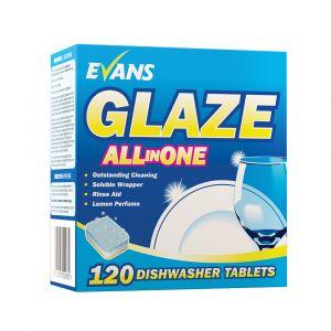 Evans Glaze All in One Dishwasher Tablets 120