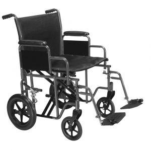 Bariatric Steel Transport Wheelchair
