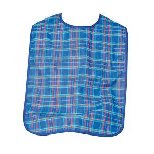 Washable Dura Bib Blue Check 70cm