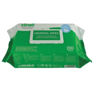 Clinell Universal Sanitising Wipes Flowrap Pack ‑ 200 Wipes