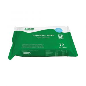 Clinell Universal Sanitising Wipes ‑ 72 Wipe Pack