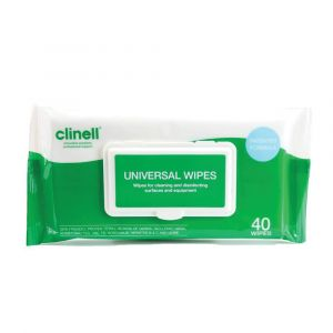 Clinell Universal Sanitising Wipes ‑ 40 Wipe Pack
