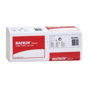 Katrin Classic 1ply Zig Zag V Fold Hand Towels ‑ Case of 4000