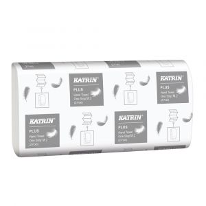 Katrin One Stop 2ply Z Fold Hand Towels ‑ Case of 3000