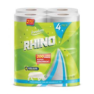 Rhino 2ply Luxury Kitchen Rolls - Case of 24 ALT
