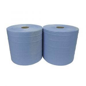 Essentials 2ply Blue Jumbo Wiping Rolls ‑ Case of 2