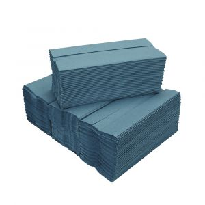1 ply Blue C Fold Hand Towels ‑ Case of 2640