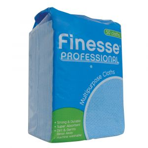 Finesse Prof Multi‑Purpose Cleaning Cloths Blue